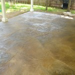 Stamped Concrete, Flagstone Design, Stained in 3 colors