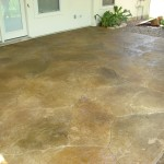 Stamped with Slate Skin, Scored Flagstone Design