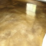 Resurfaced floor, Stained with water base colors, Sealed with a 2 part Polyurethane