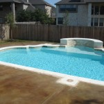 Pool deck. Acid Stained, Malay Tan by Kemiko