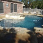 Acid Stained Pool Deck Malay Tan/Amber Color