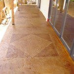 Stamped concrete, Slate Skin. Scored, Acid Stained, Malay Tan and English Red