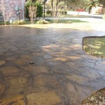 Flagstone Stained and Sealed