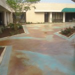 Overlay, Stained in Malay Tan with Aqua Splash
