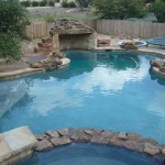 Pool Deck Concrete Stain