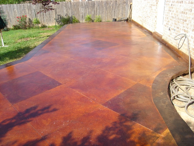 Exterior Concrete Stains And Designs Austin TX Artcrete